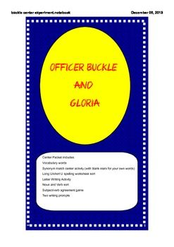 Unit includes: Subject/Verb agreement game, Long U/Short U word sort, Noun/Verb word sort, Writing a letter to Officer Buckle, and two writing prompts.