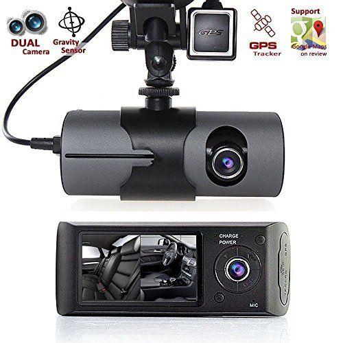 "New 2.7"" Vehicle Car DVR Camera Video Recorder Dash Cam G-Sensor GPS Dual Len Camera"