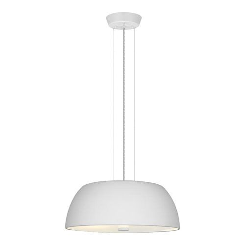 Ryan White Two-Light Chandelier with Frosted Glass