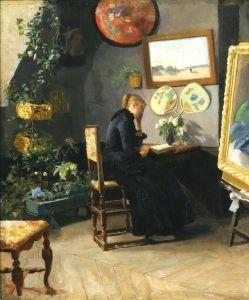 The Studio Interior (1883) - Kitty Kielland