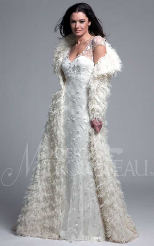 Modern trousseau nadia coat simply gorgeous for a for Simply white wedding dresses
