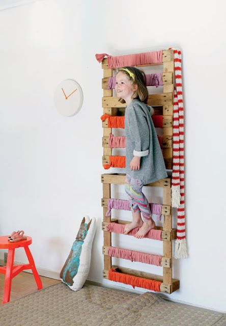 mommo design: 8 RECYCLING IDEAS - Pallet as swedish wall