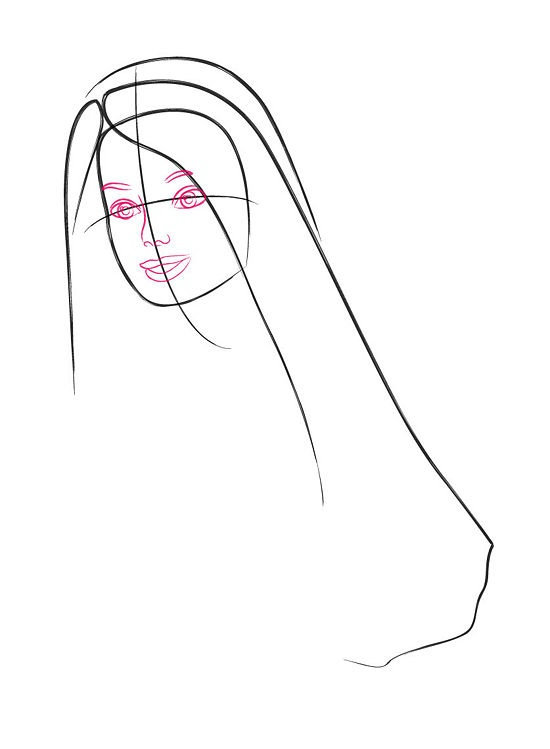 how to draw a barbie doll