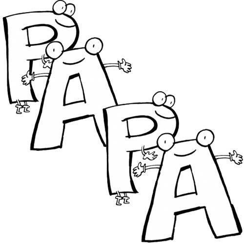 le mot papa Coloriage