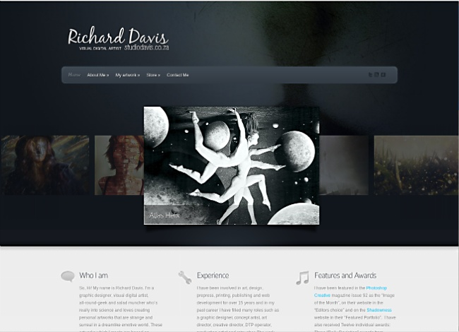 Shared Hosting: Richard Davis, Visual Digital Artist