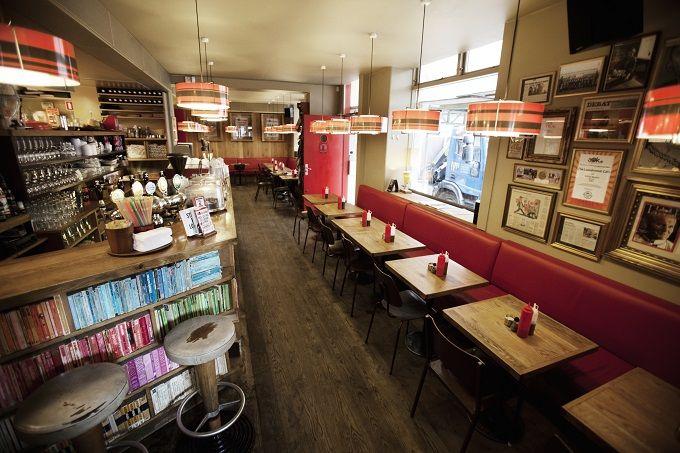 Bar with books - The Laundromat Café, Copenhagen