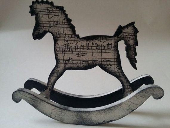Wooden Decoupage Rocking Horse