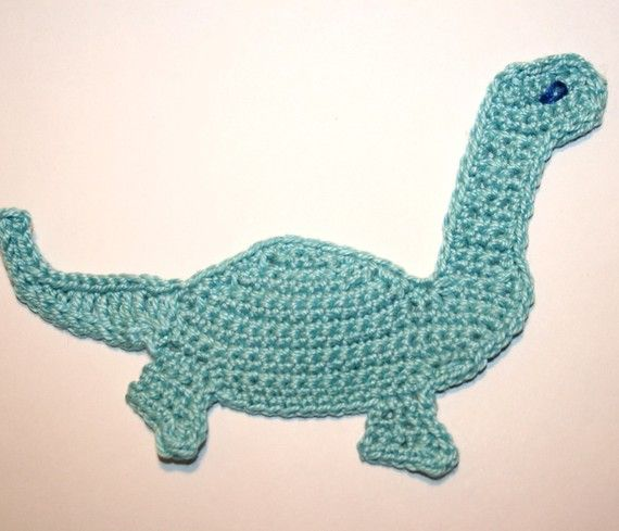 Pattern  Crochet Dinosaur Applique. by nanasue on Etsy