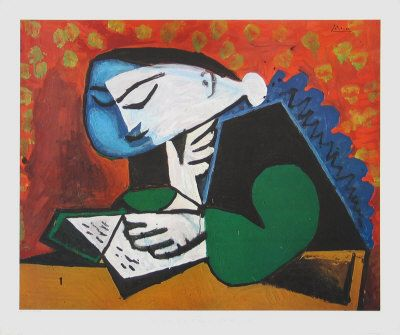 """""""Femme lisant (Girl Reading)"""", 1953 / Pablo Picasso (1881-1973) / Berggruen Museum, Berlin, Germany *"""