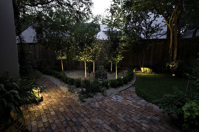 Add a little beauty and a lot of security with outdoor lighting like this!