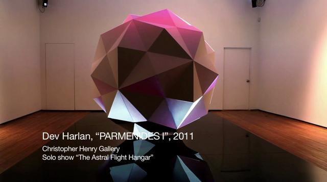 "Dev Harlan - ""Parmenides I"", 2011. Dev Harlan - ""Parmenides I"", 2011 Foam, wood, plaster, video projection Dimensions approx 8' diameter  Li..."
