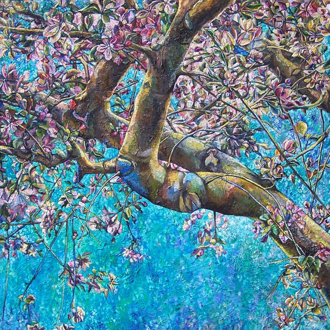 Andrea Papageorgiu 'Blooming'  2014  oil on fiberboard