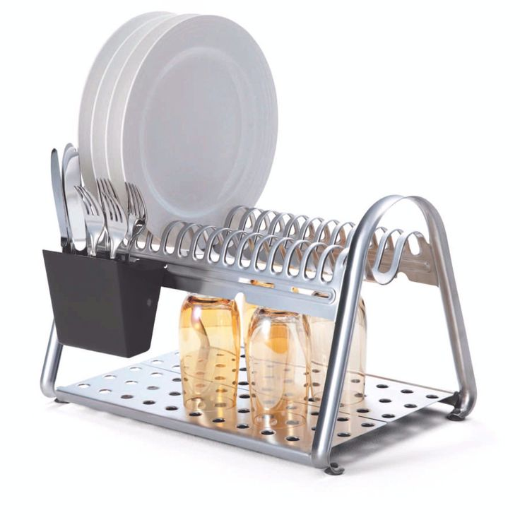 Tramontina Ciclo Stainless Steel Dish Rack  #KitchenAndDiningKitchenAccessories #KitchenAccessories #300500 #rack #accessories #KitchenAndDiningDishRacks #DishRacks #silver #kitchen #dish #CutleryHolders #DishRacksWithCutleryHolder #black #SpoonHolders #KitchenAndDining