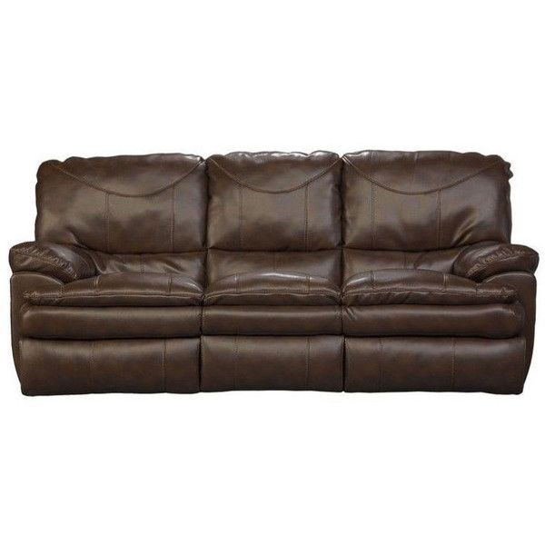 Catnapper Perez Power Reclining Leather Sofa ($1,199) ❤ liked on Polyvore featuring home, furniture, sofas, chocolate, dark brown couch, chocolate brown leather sofa, dark brown sofa, leather sofa and chocolate brown leather couch
