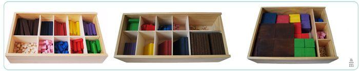 Aquest m'ha encantat: 3 caixes de la Maria Antònia Canals: regletes. Les buscaré!