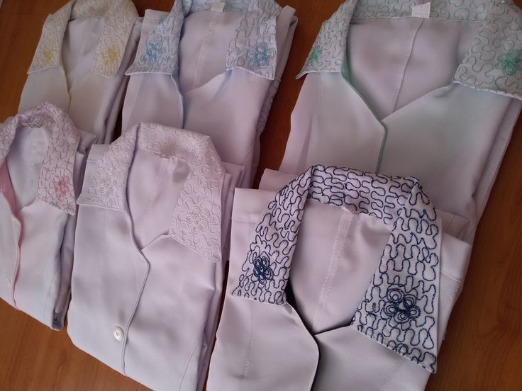 Jaleco Feminino Bordado #labcoat #Uniforms #Fashion #Style #Nurse #Medical #Apparel #rendasetramas