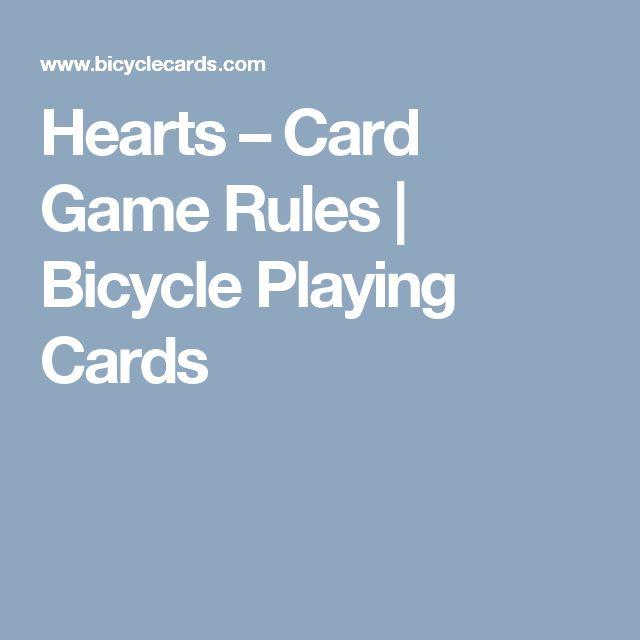 Hearts – Card Game Rules | Bicycle Playing Cards