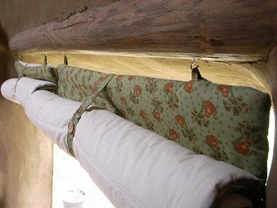 Make your own energy-saving thermal curtains for winter. Would have to be longer and wider to keep out the cold.
