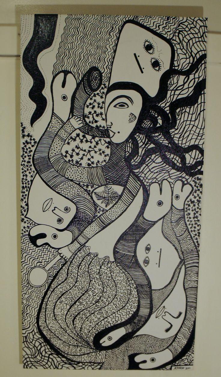 Mermaid | La Sirene Haitian-saint-soleil inspired art by Amanacer, 2014.