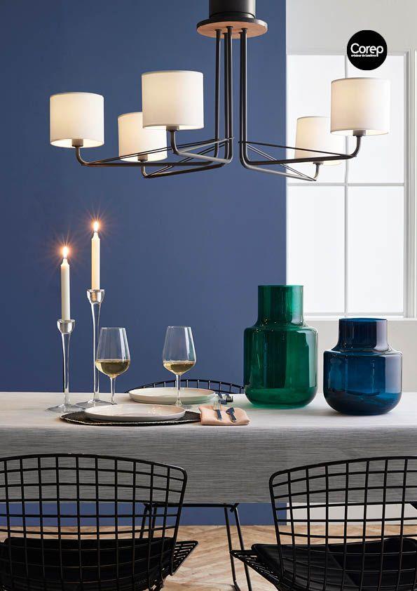 Suspension sweden référence 91621 lustre 5l en métal détail en bois naturel 5 caches douilles fournis deux utilisations possibles avec ampoules