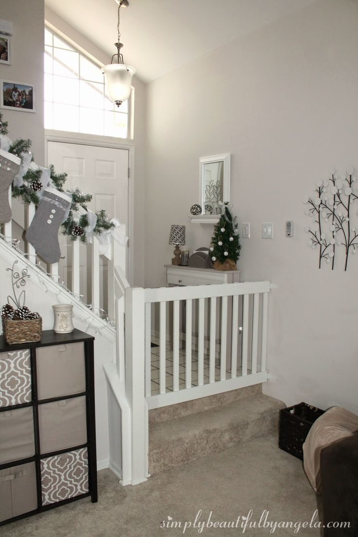 A better solution for the bottom of the stairs?  Simply Beautiful by Angela: DIY Baby Gate