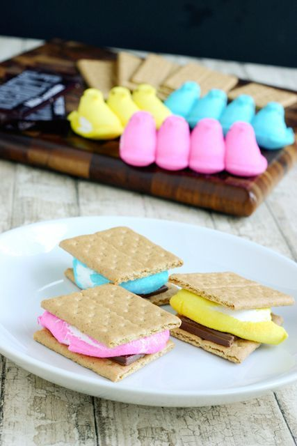 Peeps S'mores -- I am going to try this with my Velata chocolate though. check out velata chocolate here http://www.gmswhitfield.velata.us