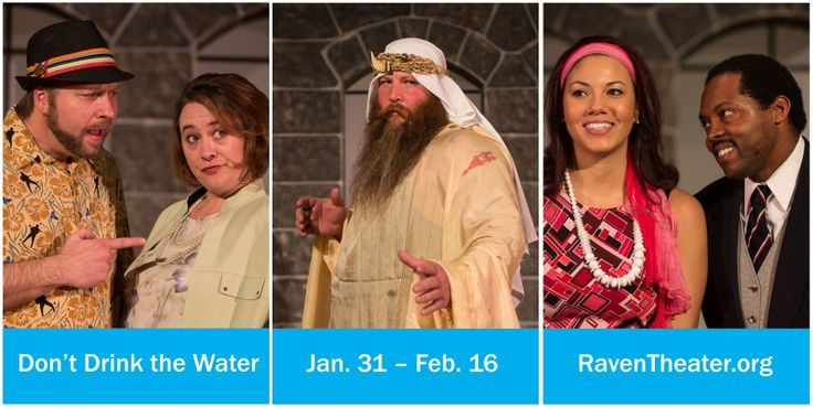 Don't Drink the Water, Jan 31 to Feb 16 2014 at Raven Performing Arts Theater Healdsburg. www.RavenTheater.org