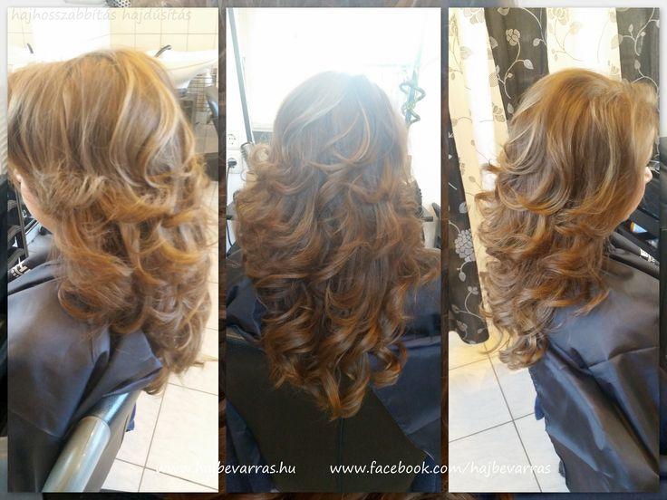 Hajhosszabbítás 50 cm-es európai hajból, mikrogyűrűs felépítéssel.  www.hajbevarras.hu  www.fb.com/hajbevarras #hajhosszabbítás #hajdúsítás