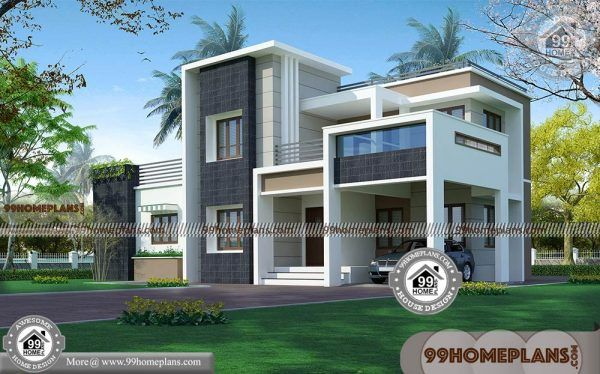 Indian Modern House Plans And Elevations | Double Story Box ...