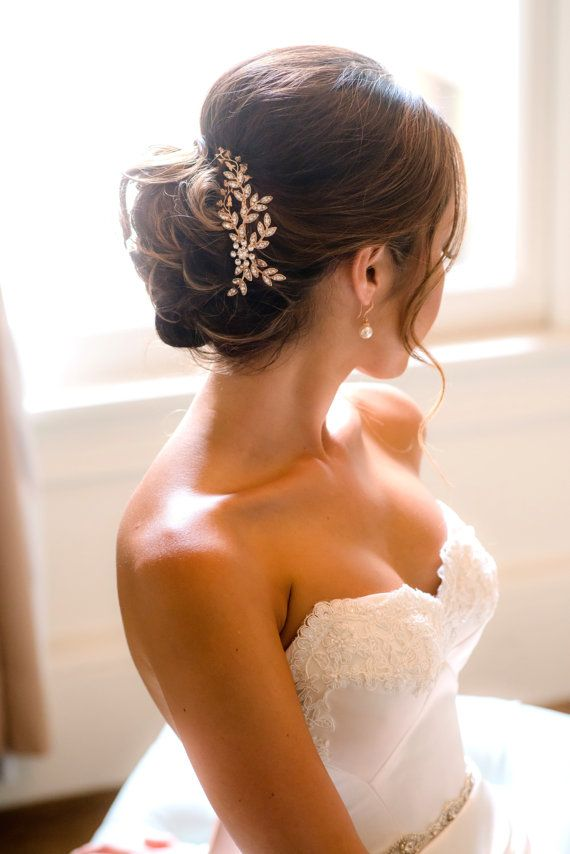 A beautiful new premium Rose Gold couture comb by Lulu Splendor. This Handmade and unique Bridal Hair accessory can be worn with many different