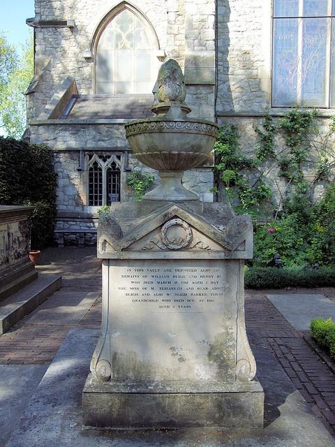 Captain William Bligh's Family Tomb, St Mary-at-Lambeth Graveyard, London