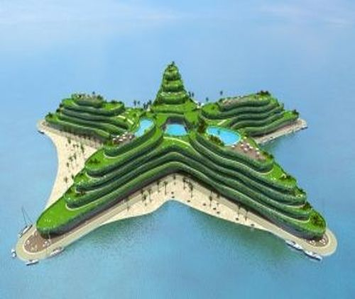 The Greenstar, A Star Shaped Floating Hotel - Maldives