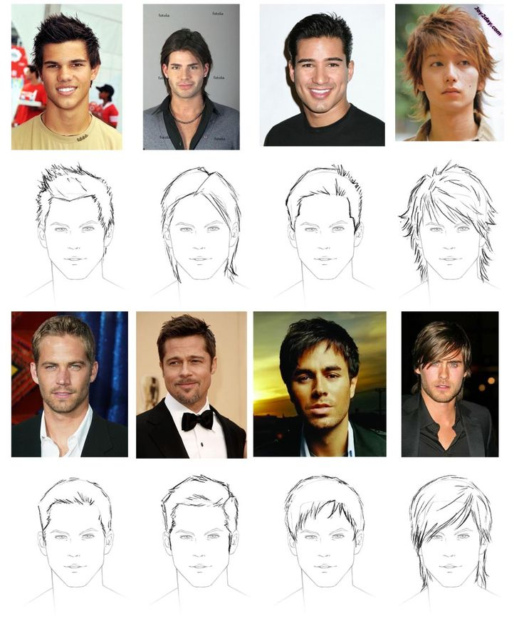 How To Choose A Good Hairstyle For Guys : Best 25 drawing male hair ideas on pinterest male hairstyles