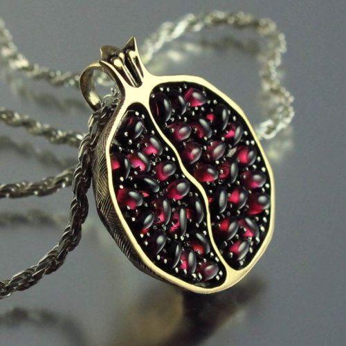 Pomegranate Pendant - Natalia Moroz.