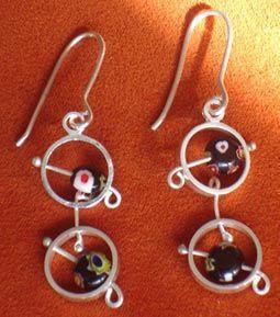 Arete plata 925, Beatriz Zuñiga diseñadora de joyas.