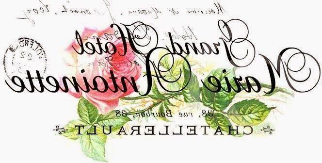 Etiqueta o publicidad francesa con rosas y blanco y negro en espejo para transferir. Vintage french label with roses mirror to transfer.
