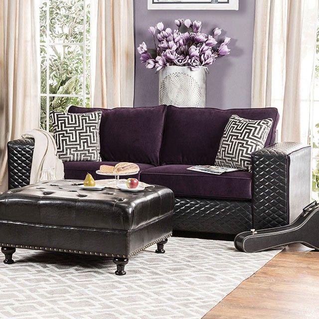 Sofa Sale SKU sm Contemporary sofa and loveseat wide square arms plush seat cushions