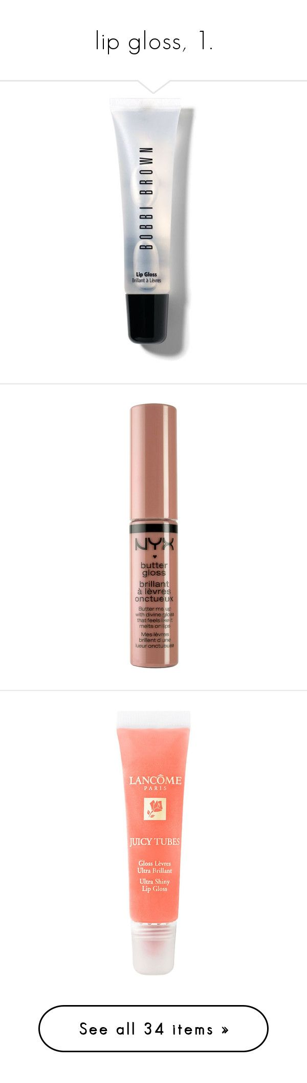 """lip gloss, 1."" by originalimanim ❤ liked on Polyvore featuring beauty products, makeup, lip makeup, lip gloss, beauty, lip, cosmetics, filler, lip shine and lip gloss makeup"