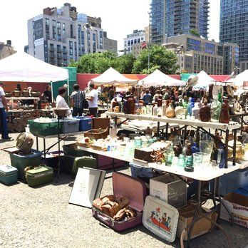 Hell's Kitchen Flea Market - New York, NY, United States. Prices are high! Vendors are hurting for money.