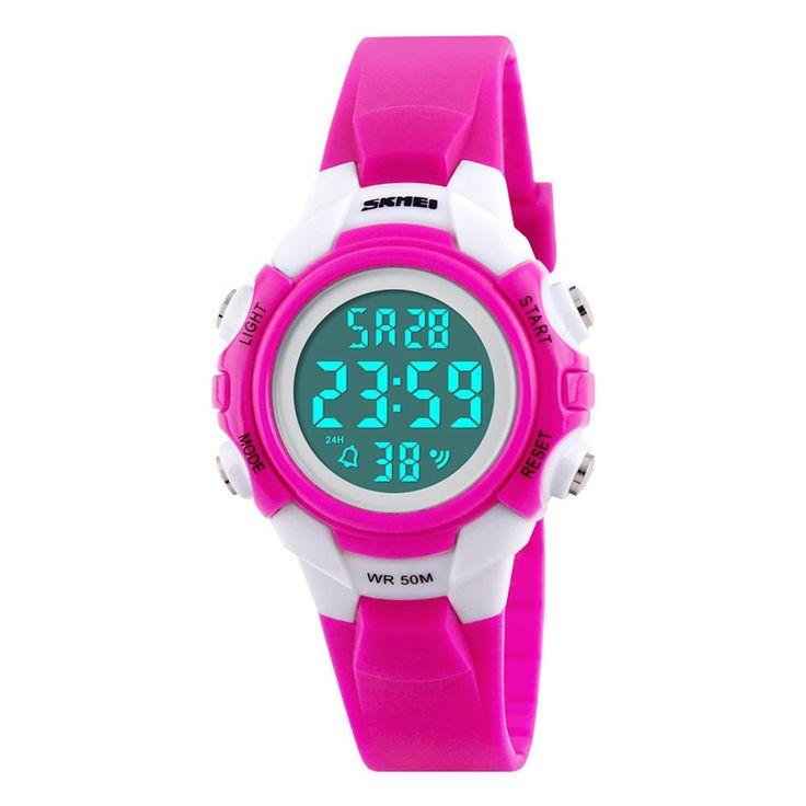 SKMEI Digital Sports Watches Boy Girls LED Alarm Stopwatch Wrist Watch Hot  Drop Shipping Wholesale relojes hombre 2017 july18 #Affiliate
