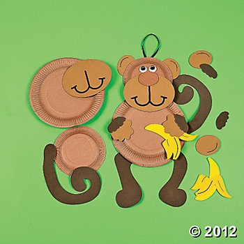 Paper Plate Monkey Craft Kit