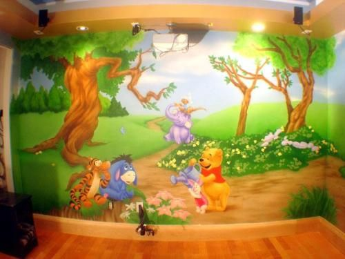 You can decorate your kids' room in jungle theme by making trees, animals on walls. Description from gharexpert.com. I searched for this on bing.com/images