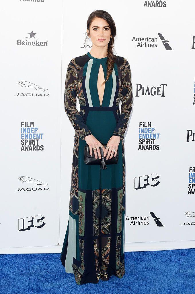 Nikki Reed in Etro at the 2016 Spirit Awards
