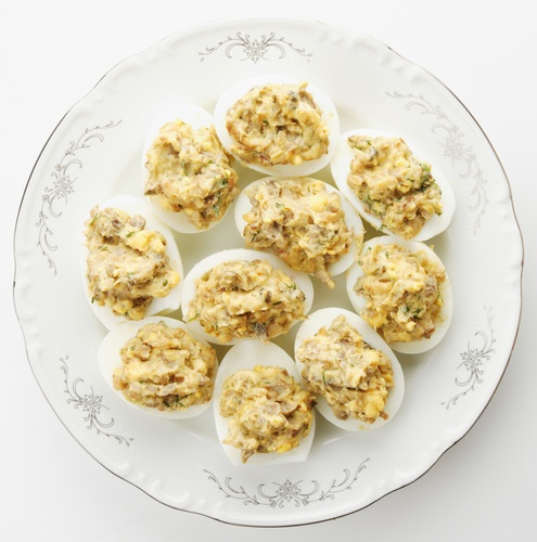 Deviled eggs dukan snacks pinterest yogurt deviled for Table 52 deviled eggs recipe