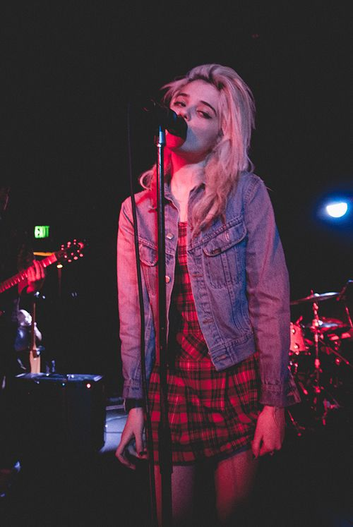 Sky Ferreira. I like the indie style and I could use this in my photo shoot both the clothing idea and pose with props.