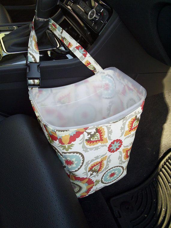 Eco Friendly Car Trash Bag Can  Multicolor