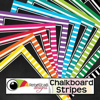Chalkboard Stripes contains 20 stripe framed, chalkboard backgrounds.  10 U.S. Letter size and 10 square size with 10 different colors.  Place text and clip art over the top to create fun product covers, worksheets, activities, posters and other teaching resources.