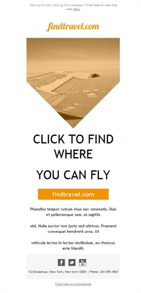 Mejores 18 imágenes de Agencia de viajes - Plantillas Newsletter ...