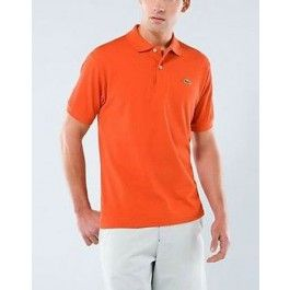 Men Polo Shirt, Short Sleeve, Orange Color