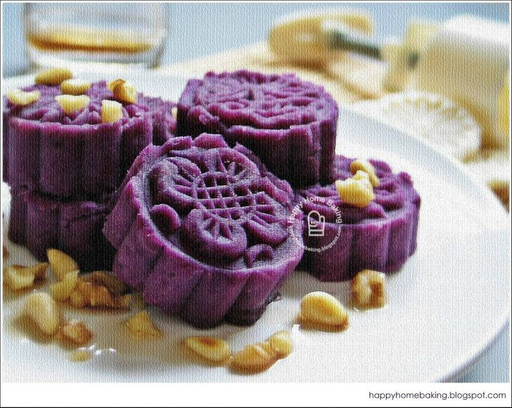 Purple Sweet Potato Moon Cake Recipe